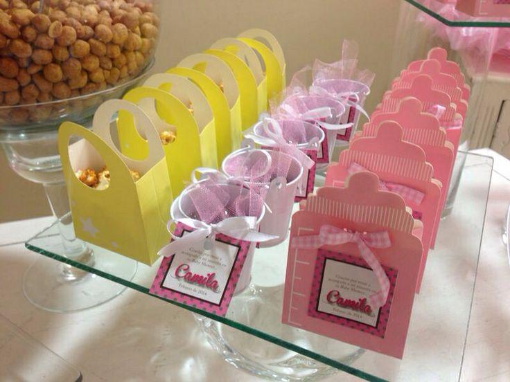 Mesa de snack baby shower shabby chic ideas para table - Mesa shabby chic ...