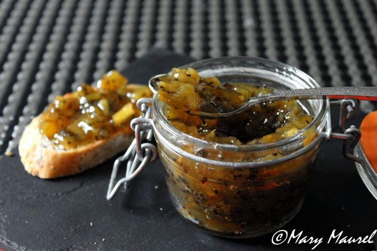 confiture de kiwi et zestes d'orange