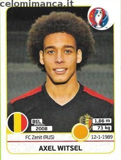 UEFA EURO 2016™ Official Sticker Album: Fronte Figurina n. 475 Axel Witsel