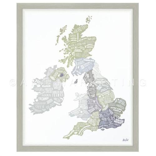 Kitchen/Diner - Wall ART AF3359 Great British Food Framed Glazed Print