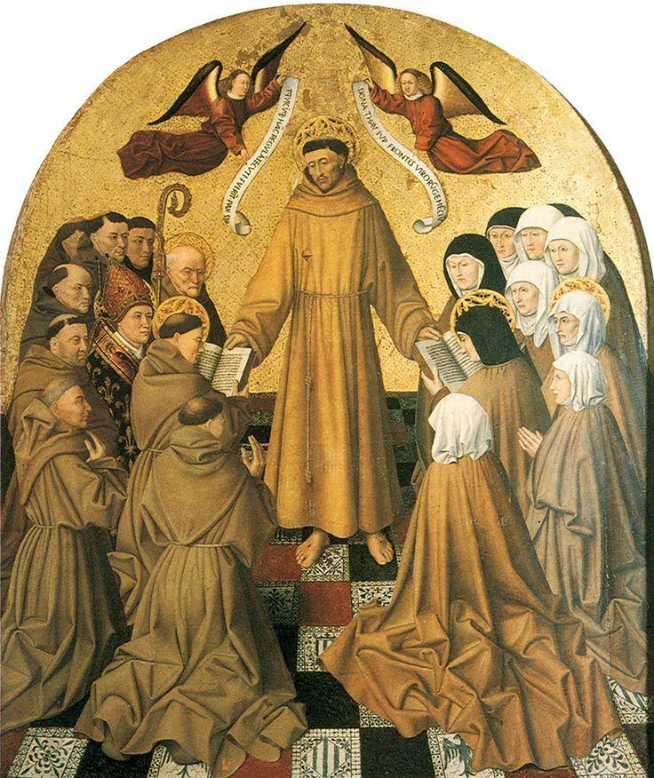 Колантонио. Дарование францисканского устава.