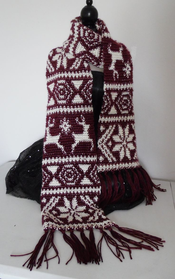 85 best laine crochet tapestry images on pinterest knitting fair isle pattern crochet scarf using the tapestry crochet method bankloansurffo Gallery