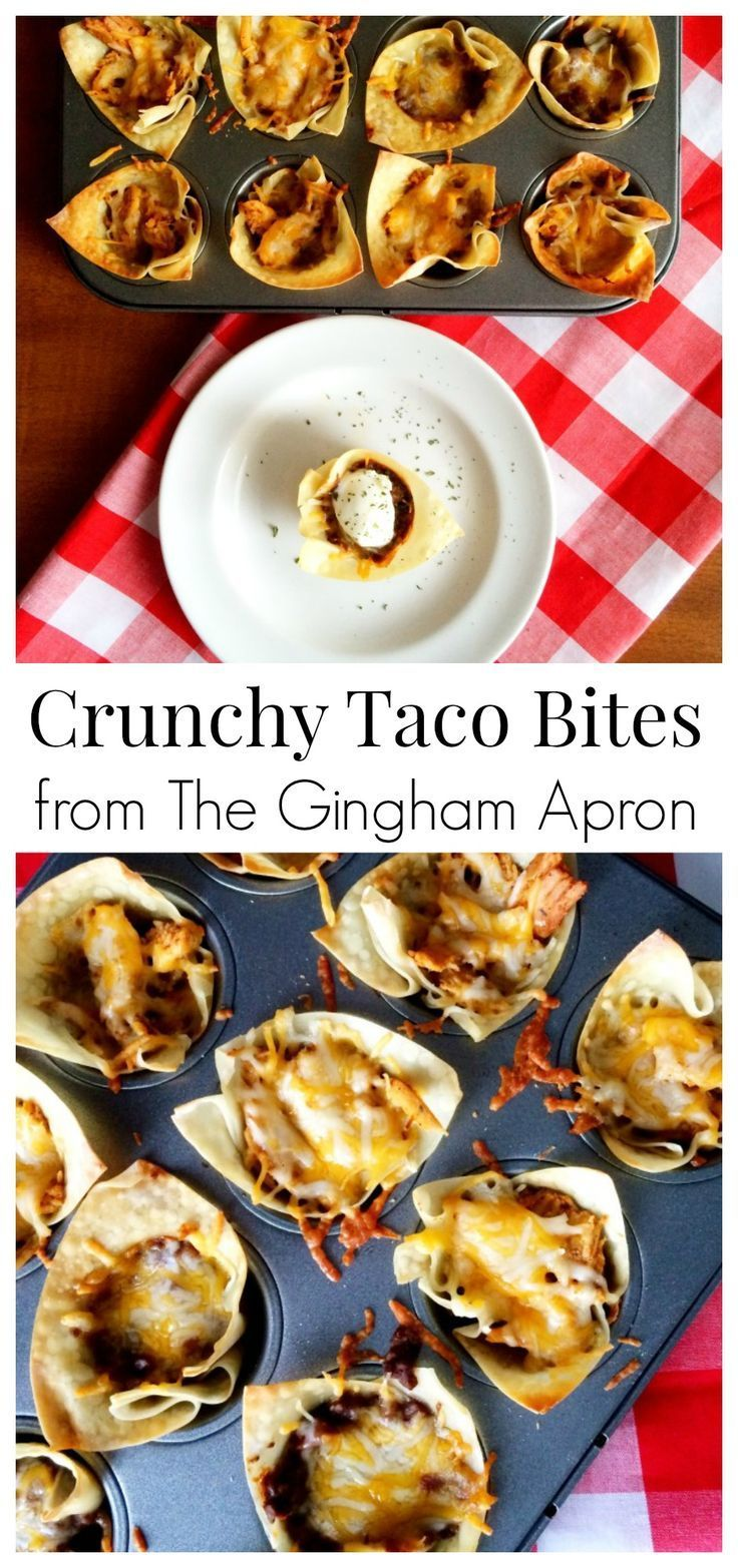 Crunchy Taco Bites- a fun appetizer or meal that is easy and delicious! Cinco de Mayo???