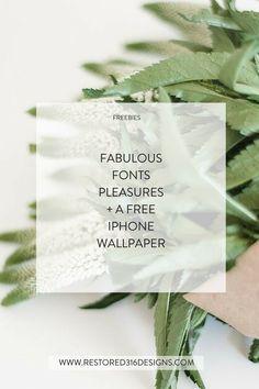 Introducing Pleasures font + a FREE iPhone wallpaper design: Be Brave - Restored 316 Designs #freebie Free iPhone Wallpaper