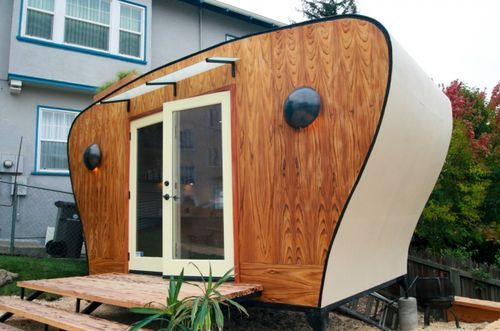This tiny space started out as a unique work space, but evolved to include a fold out bed, solar panels etc. Wrapped in R30 insulation and a price tag of $10,000 it is a surprising low cost for so…