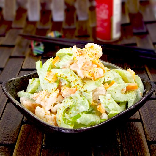 Shrimp and celery salad with wasabi mayo! Sounds fantastic- amazing flavour and texture and so easy to make! Easily ready in less than 20 minutes !