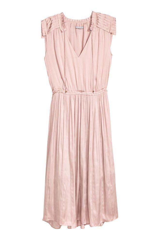 Crêpe satin dress - Powder pink - Ladies | H&M GB 2
