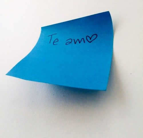 Nota, amor, recado, mensaje, amistad, papel, corazon, azul, Note, love, message, message, friendship, paper, heart, blue, post it