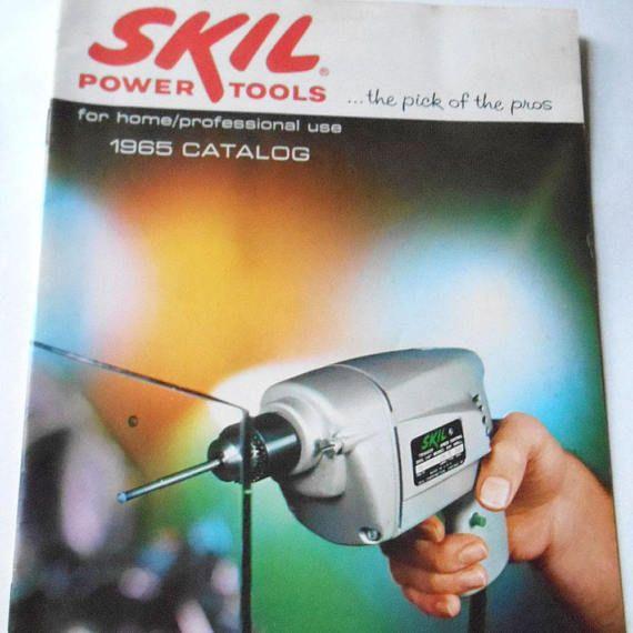 Vintage 1965 Skil Power Tools Catalog for Home Professional #skil #powertools #catalog #60sadvertisement #professional #homerepair #powerdrill #circularsaw #reciprocatingsaw #sawblades #brochure #etsy #etsyseller #etsyshop #giftideas #vintage #retro
