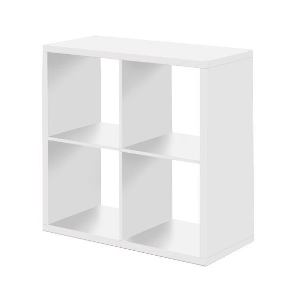 Max polc 2x2 rekesz, fehér színben, mérete: 73x73x33cm.