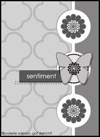 Card sketch: A Sketch Cards, Sketch 103, Cards Make Design Sketch, Cards Kaarten, Cards Sketch Vertes, Butterflies Sketch, Scrapbook Sketch, Cards Templates, Card Sketches