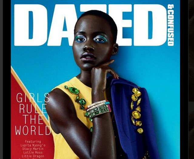 Lupita Nyong'o on the cover of Dazed and Confused. Loving the colors.