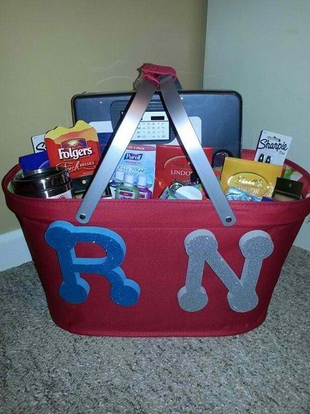 15 Awesome Gift Basket Ideas for Nurses: http://www.nursebuff.com/2014/08/nurse-gift-basket-ideas/ Gift basket Ideas #giftbasketideas #giftbaskets