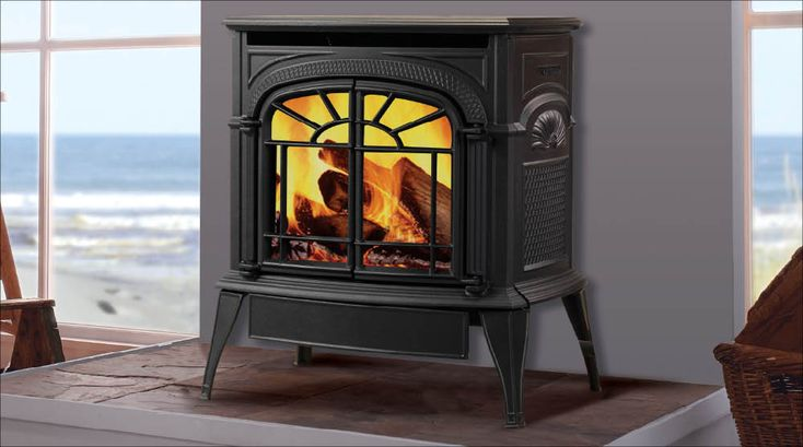 Vermont Castings Intrepid Direct Vent gas stove classic black, ebony black, cream, bordeaux