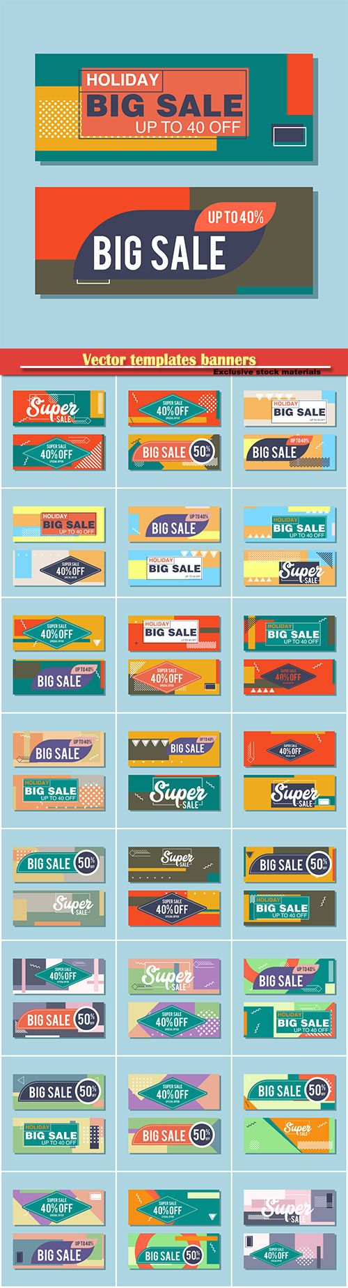 Download Vectors  templates banners coupon codes and vouchers Free