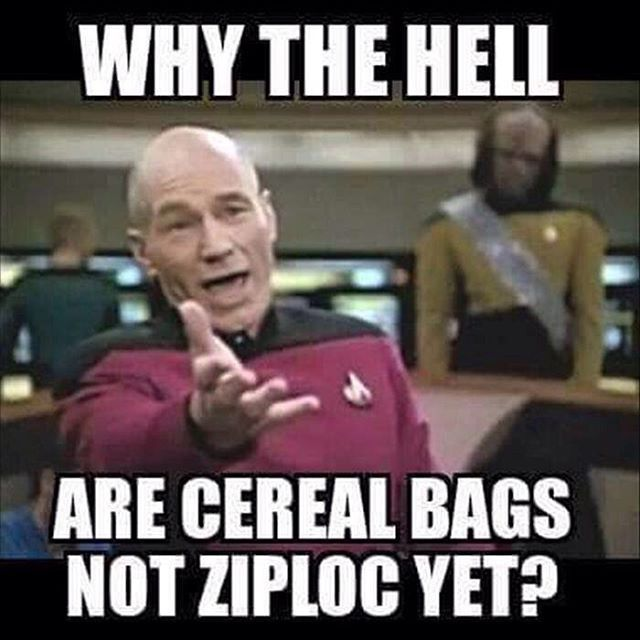 """@crazy_organized_blog: """"""""Why the hell are cereal bags not ziploc yet?"""" My thoughts exactly!"""""""