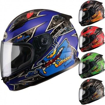 GMAX GM49Y Alien Full Face Youth Motorcycle Street Riding Helmet