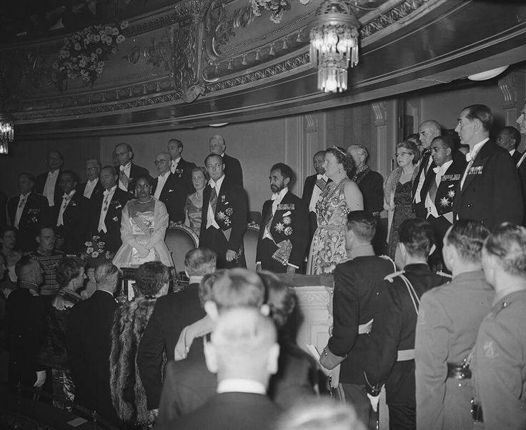 Emperor Haile Selassie of Ethiopia in the Netherlands in 1954 G.C Pictures taken in Amsterdam, Delft, Den-Haag, Geldrop, Kinderdijk & Schiphol in November 1954 G.C The Dutch National Archives https://www.gahetna.nl/en/collectie/afbeeldingen/fotocollectie