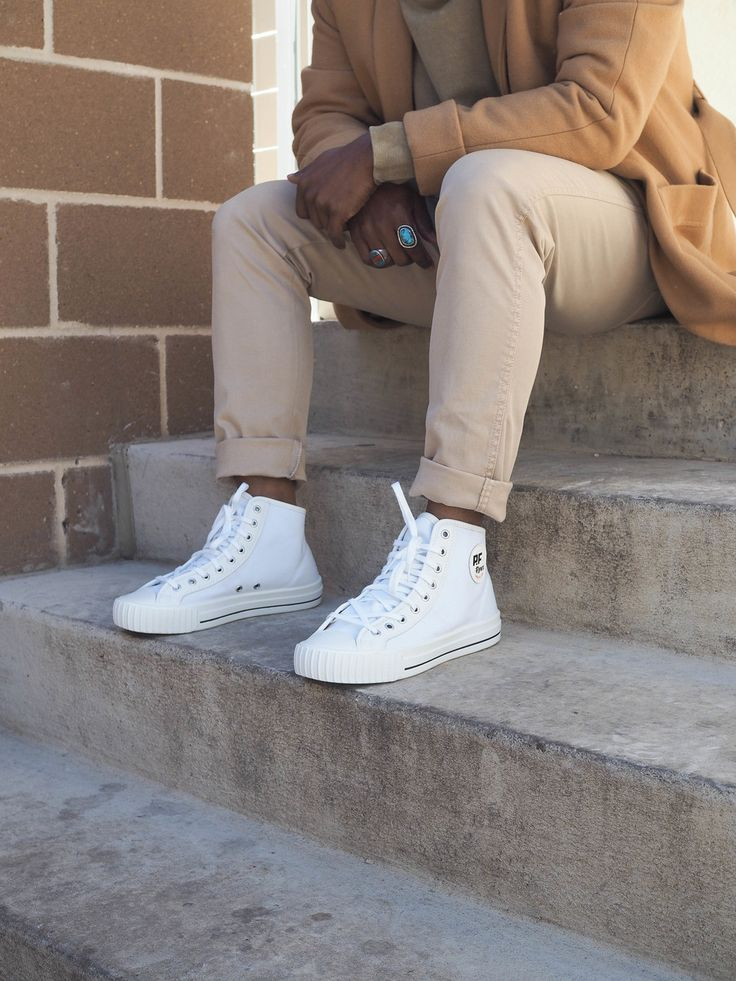 white PF Flyers to stand out