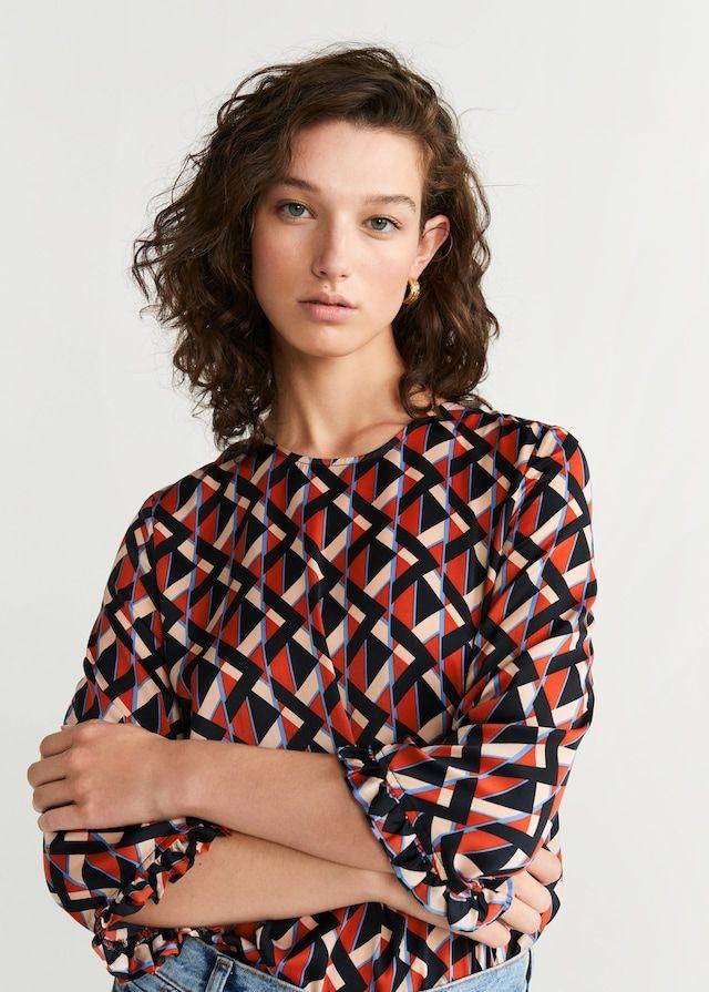 Geometric-print blouse – Woman