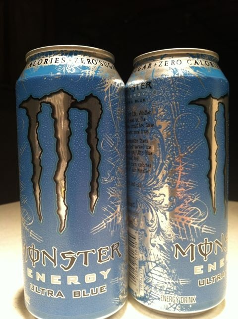 Monster Energy Drink, Ultra Blue...I love this flavour, its like drinking sex water :3
