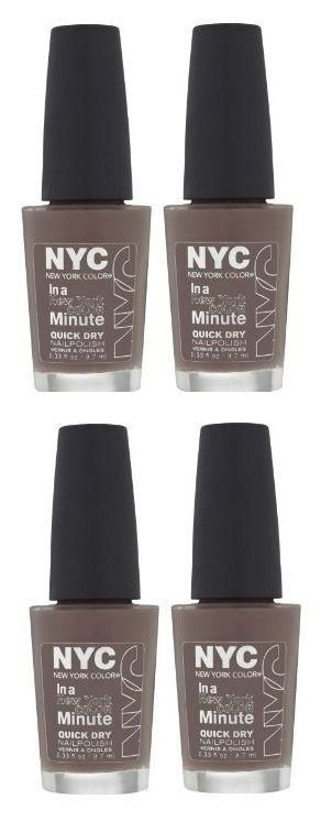 Lot Of 4 - Nyc In A New York Color Minute Quick Dry Nail Polish, Park Ave