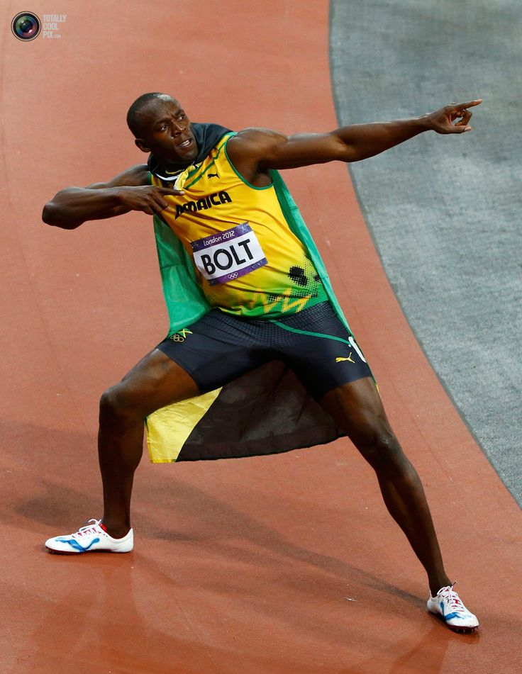 Day 9 - Jamaica's Usain Bolt celebrates after winning the ...