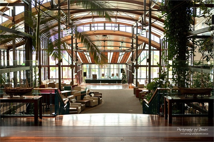 Slightly Jurassic Park-esque Kingfisher Bay Resort on Fraser Island, Australia.