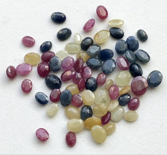 WHOLESALE 10 Cts 12 Pcs Multi Sapphire Faceted by gemsforjewels