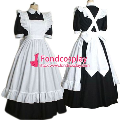 Sissy maid satin dress lockable Uniform cosplay costume Tailor-made[G2189]                                                                                                                                                      Mehr