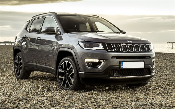 Download wallpapers 4k, Jeep Compass, offroad, 2018 cars, SUVs, 4x4, new Compass, Jeep