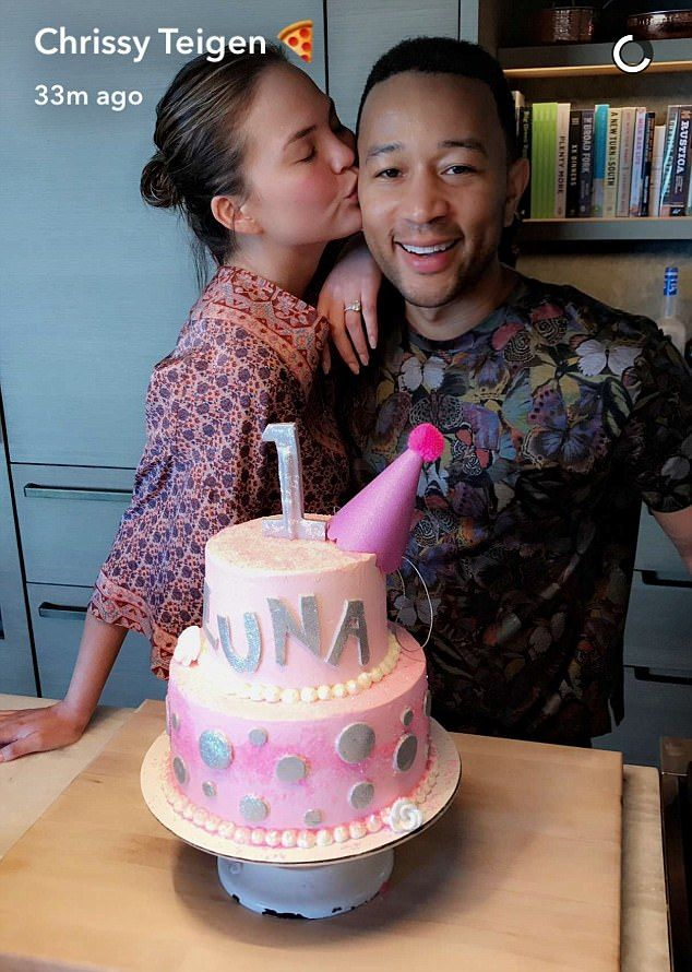 Top chefs! The Legends showed off their kitchen masterpiece on social - a three tiered pink cake adorned with Luna's little name in silver fondant