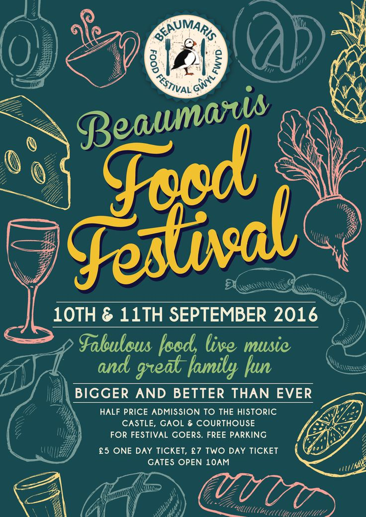 Christine Lee Graphic Design & Web Design Beaumaris food festival #poster design #food festivals