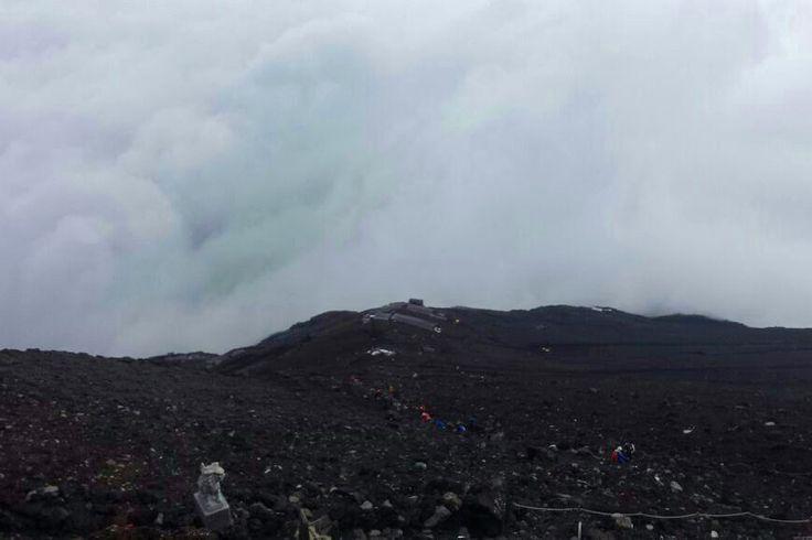 Mar de nubes a los pies del Monte Fuji