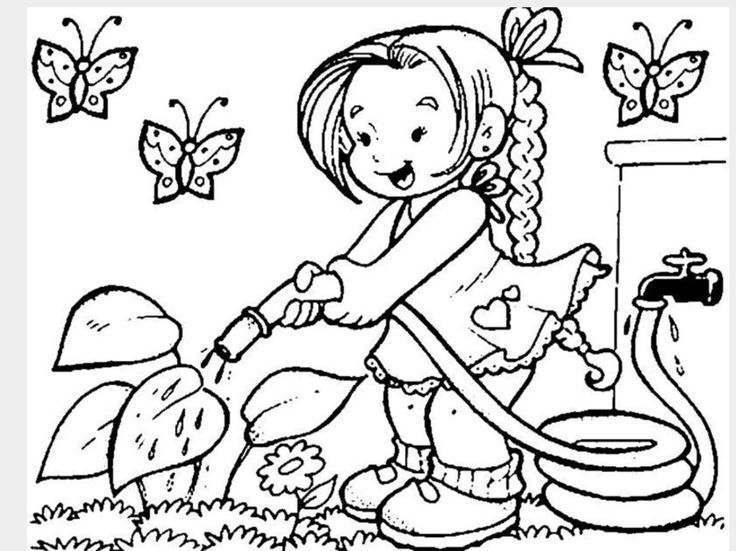 23 best Language Arts- Sentences prompts and Pictures images on - best of coloring pages watering plants