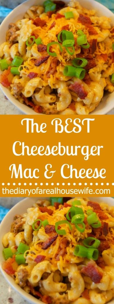 The BEST Cheeseburger Mac and Cheese. This recipe was AWESOME. Adding it to my meal plan for another week.