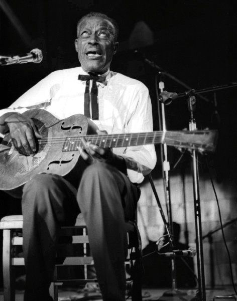 """Eddie James """"Son"""" House, Jr. 1902-1988) was a blues singer and guitarist. House pioneered an innovative style featuring strong, repetitive rhythms, often played with the aid of slide guitar, and his singing often incorporated elements of southern gospel and spiritual music."""