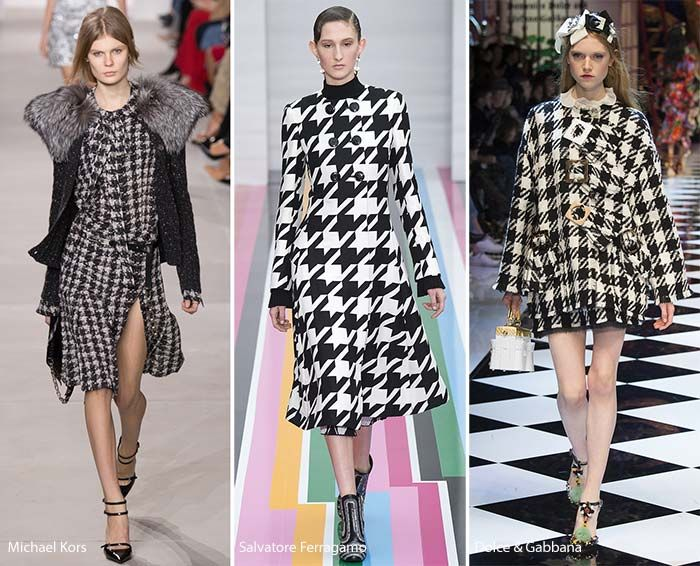 Fall/ Winter 2016-2017 Print Trends: Houndstooth Patterns.  Love Houndstooth, it's so chic!