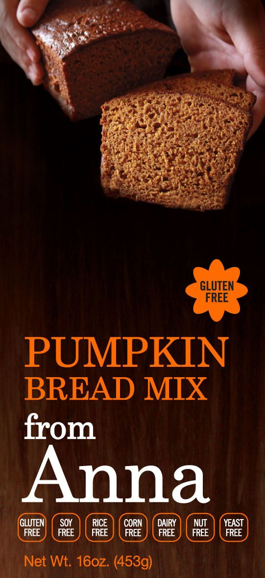 Pumpkin Bread Mix - look at the ingredients - bean and chia flours