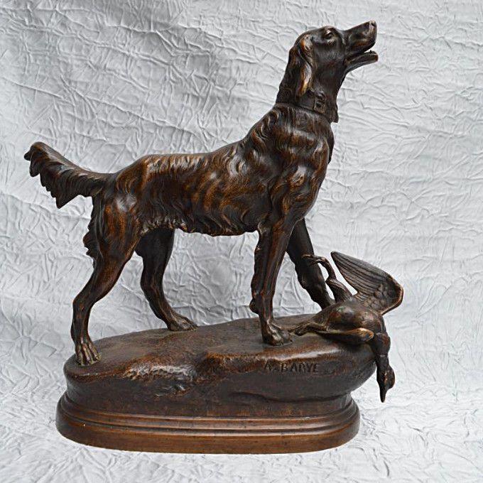 Bronze Signé d' Alfred Barye (1839-1882). Eva. Grand Chien Debout. | Art, antiquités, Art du XIXe et avant, Sculptures, statues | eBay!