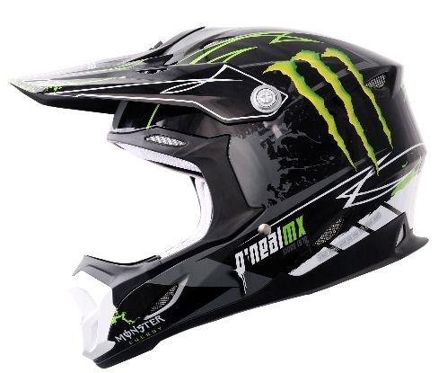 712 Monster Energy Helmet inkl. B-Flex Brille (ONeal) MotoCross Helmet. baaaad