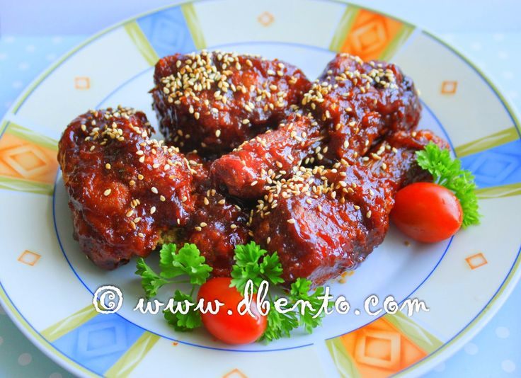 Bento Mania: Resep makanan korea Yangnyeom tongdak