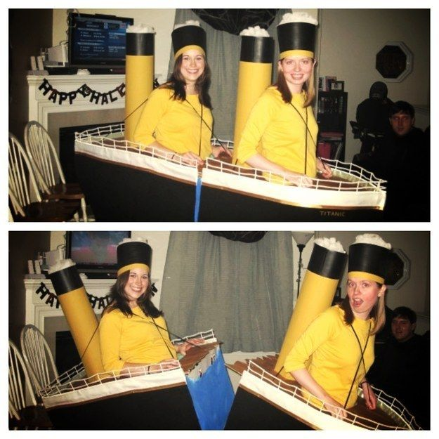 The RMS Titanic | 31 Two-Person Costumes Guaranteed To Up Your Halloween Game