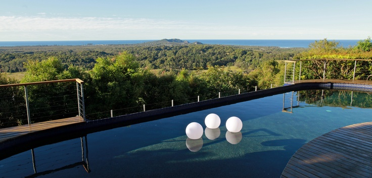 Beautiful view by the pool at Summerhouse