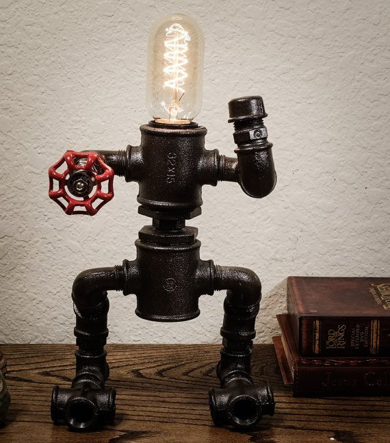 Industrial iron pipe faucet lamp pipe lamp edison by MoonLight001