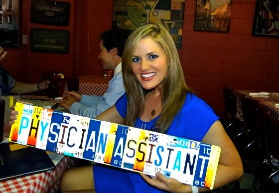 Kelly's gift upon graduating & becoming a physician assistant.
