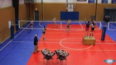 Setter drill--includes conditioning, communication, and forces them to process information while on the move.