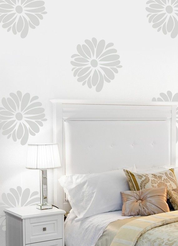 vinyl wall sticker - pretty flower pattern