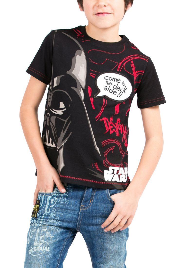 Camiseta de Star Wars negra | Desigual Volley