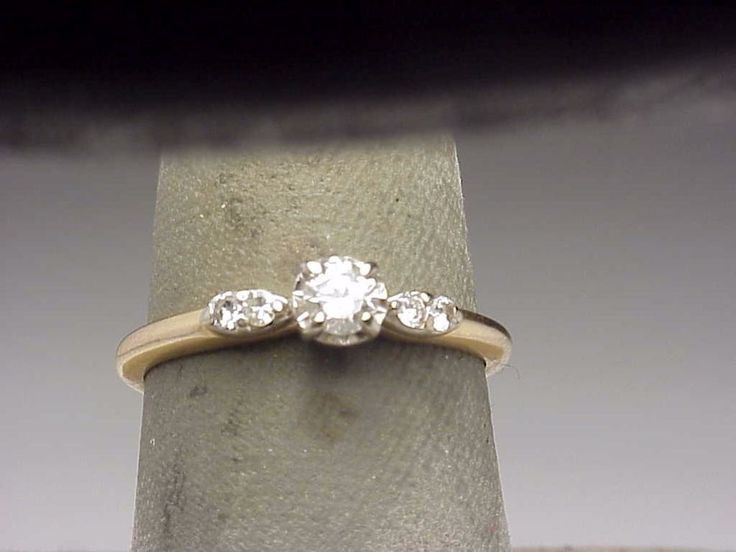 Antique  G VS Diamond  Engagement Ring 14k Yellow Gold  | eBay